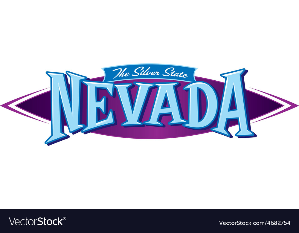 Nevada the silver state vector | Price: 1 Credit (USD $1)
