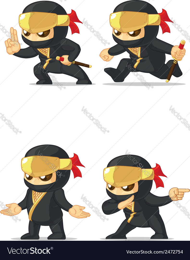 Ninja customizable mascot 15 vector | Price: 1 Credit (USD $1)