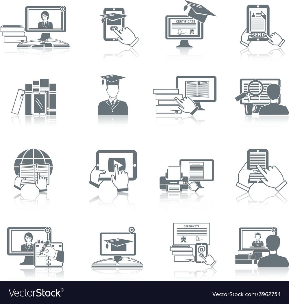 Online education icon vector | Price: 1 Credit (USD $1)