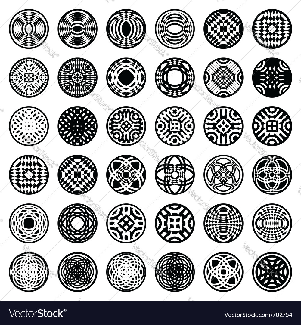 Patterns in circle shape vector | Price: 1 Credit (USD $1)