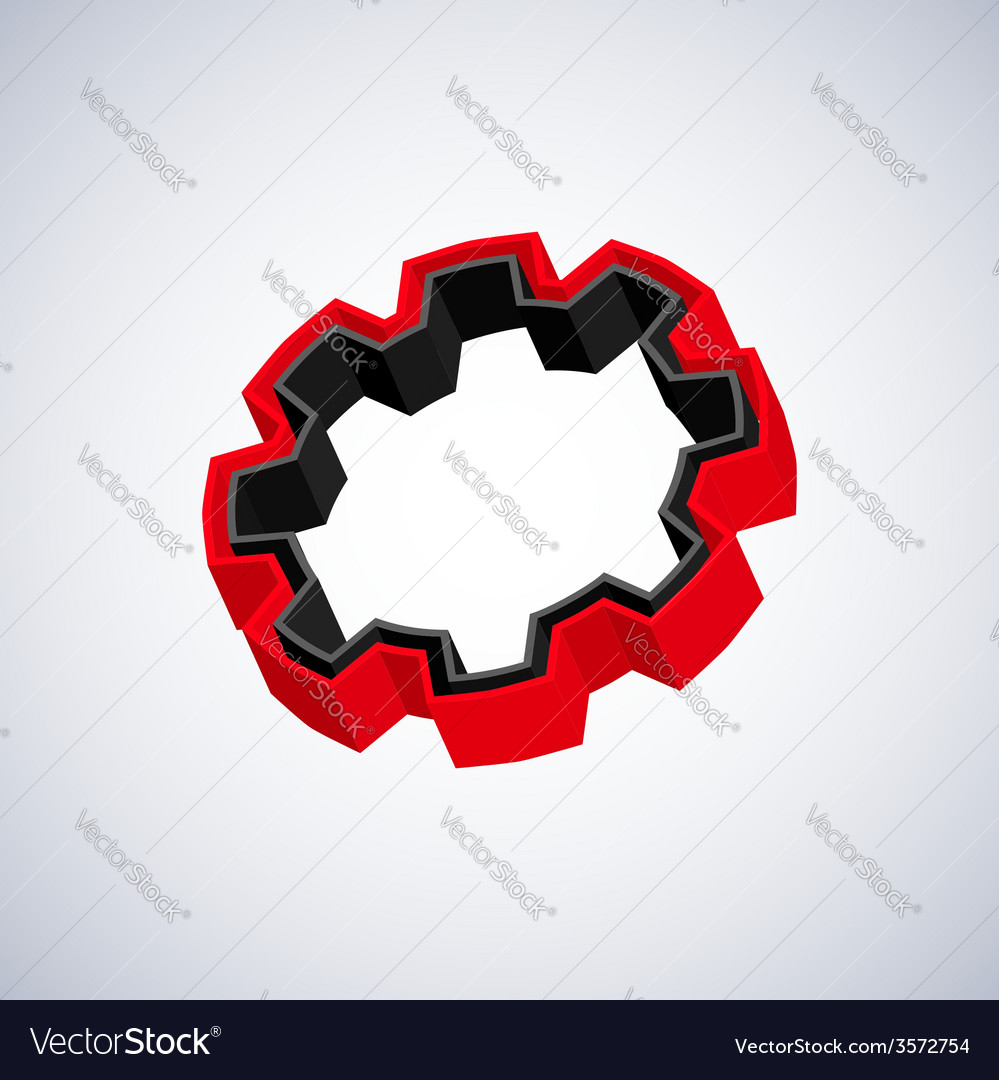 Red 3d gear vector | Price: 1 Credit (USD $1)