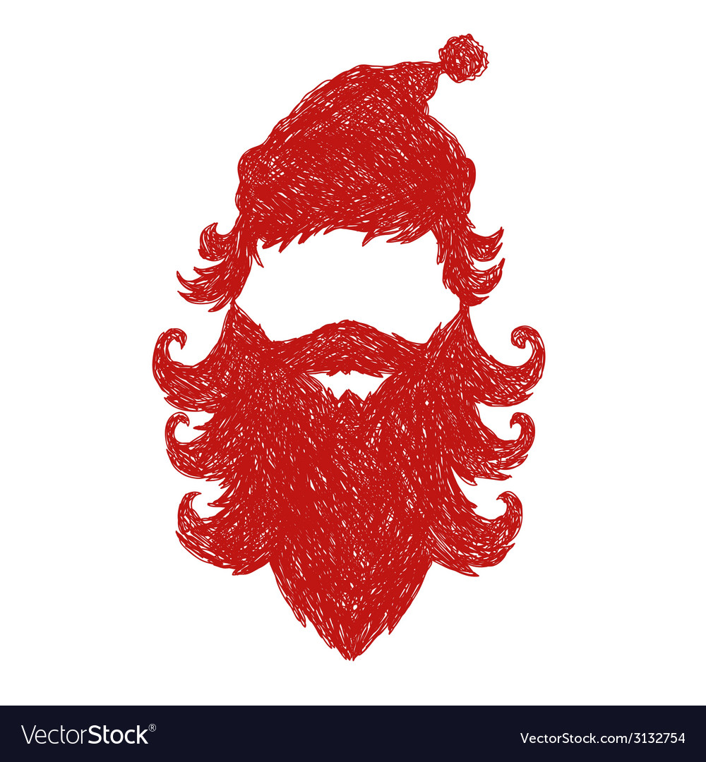 Santa claus isolated vector | Price: 1 Credit (USD $1)