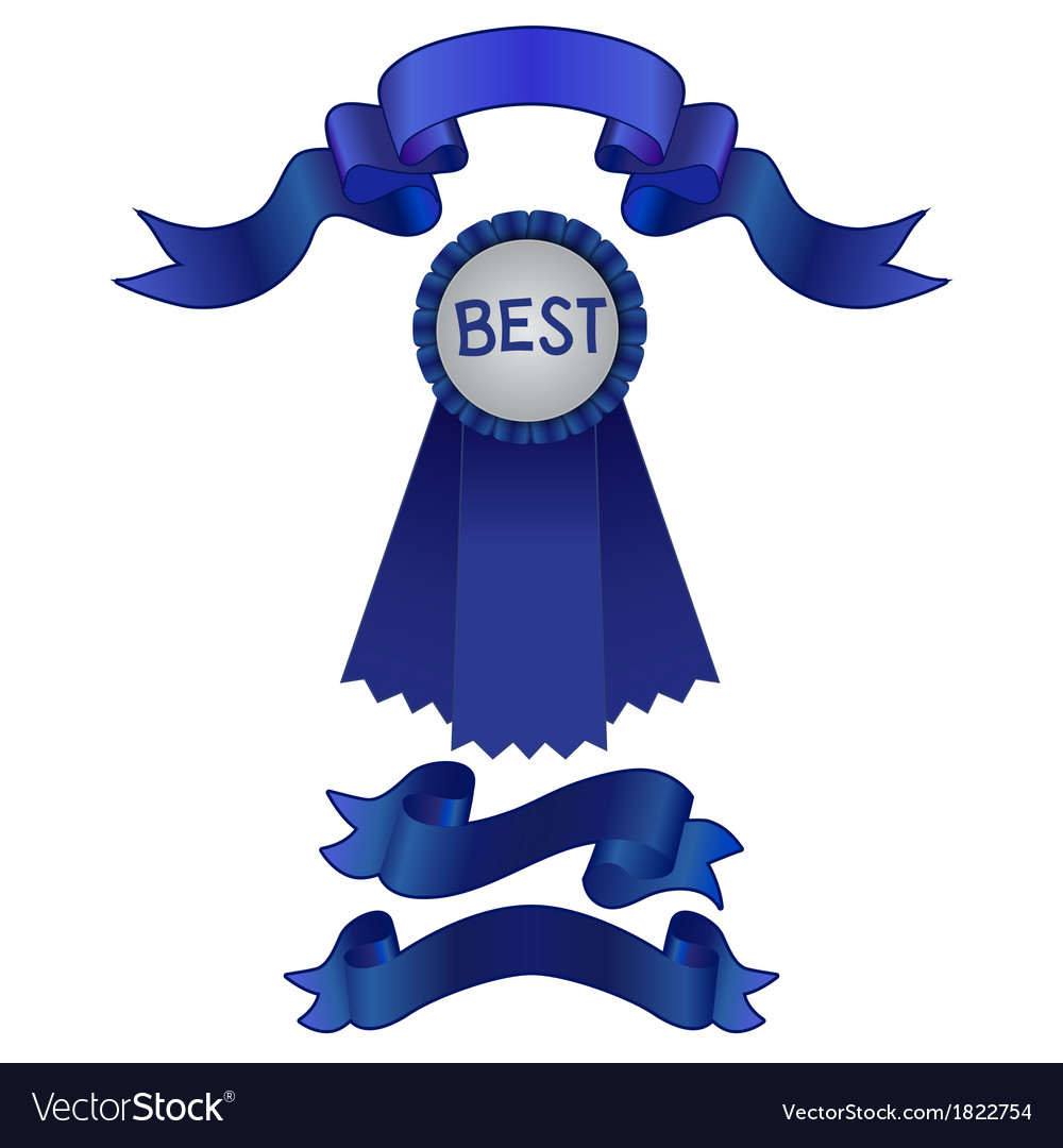 Set of blue ribbons and award vector | Price: 1 Credit (USD $1)