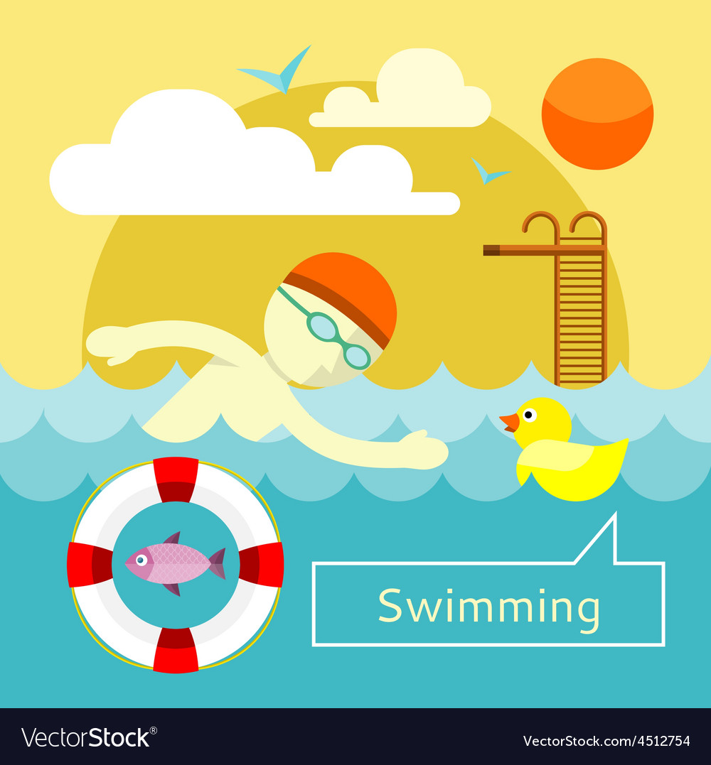Swimming concept vector | Price: 1 Credit (USD $1)