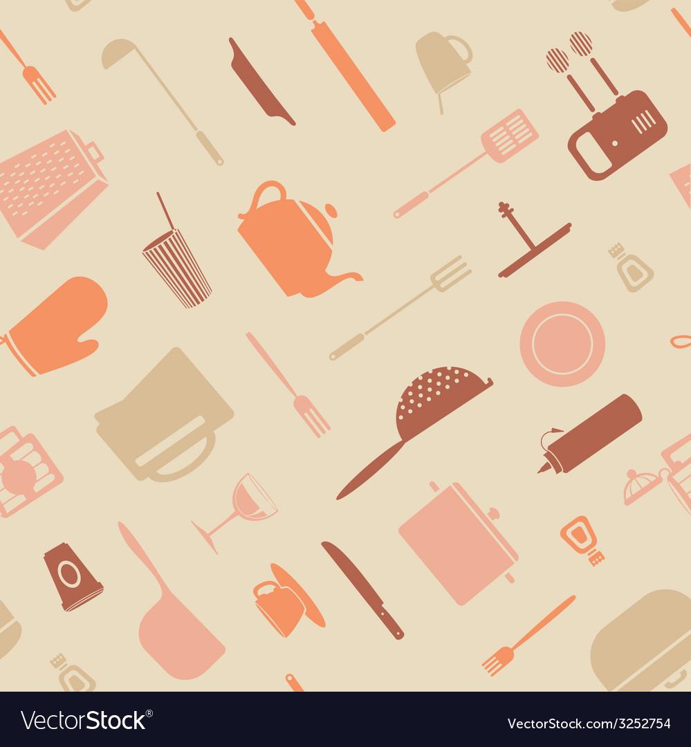Symbol kitchen pattern vector | Price: 1 Credit (USD $1)