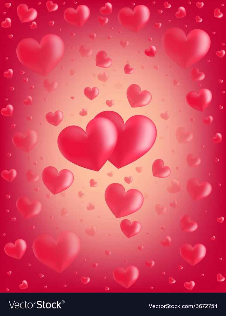 Valentine card hearts vector | Price: 1 Credit (USD $1)