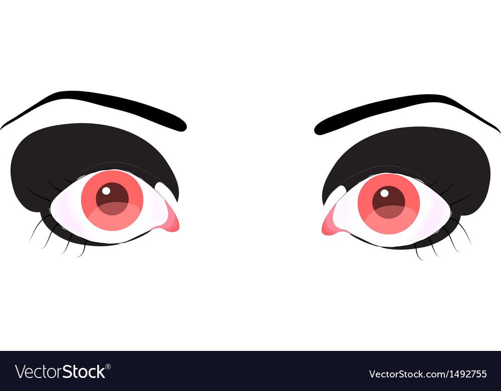 Beautiful pink eye vector | Price: 1 Credit (USD $1)