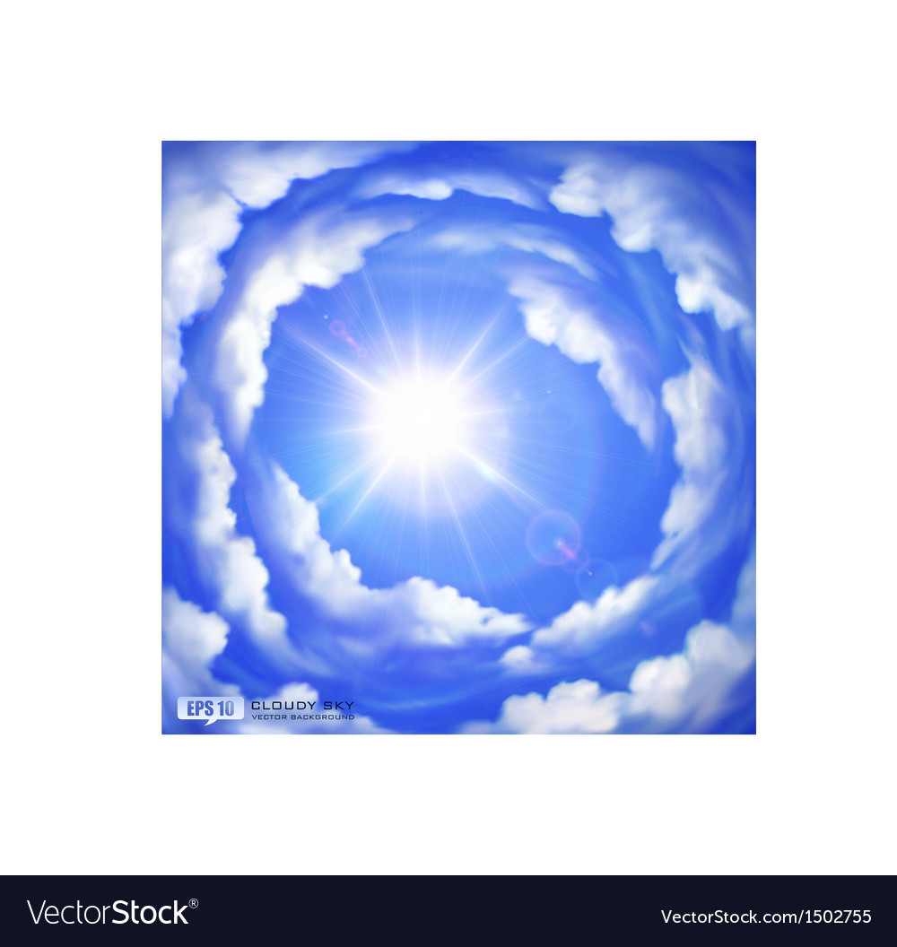 Cloudy sky vector | Price: 1 Credit (USD $1)