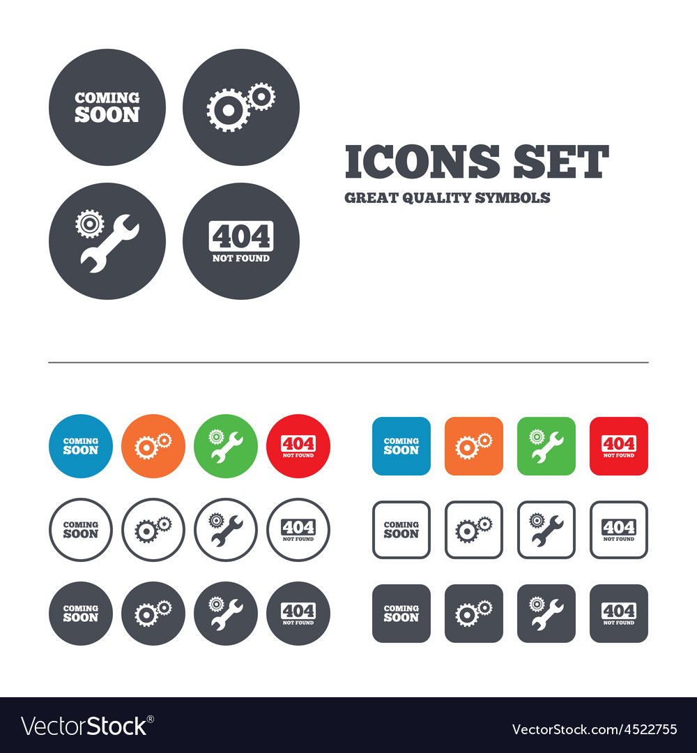 Coming soon icon repair service tool and gear vector | Price: 1 Credit (USD $1)