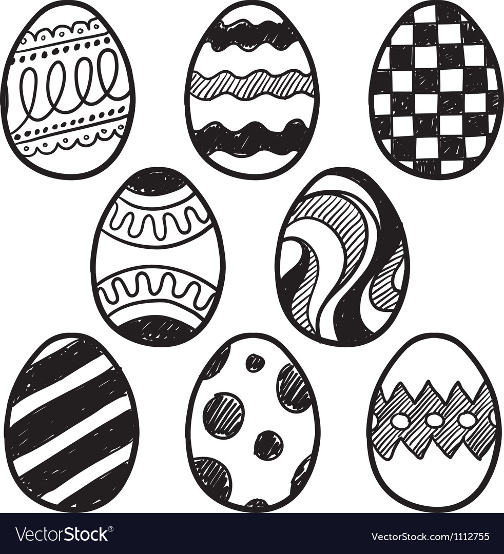 Doodle easter eggs vector | Price: 1 Credit (USD $1)