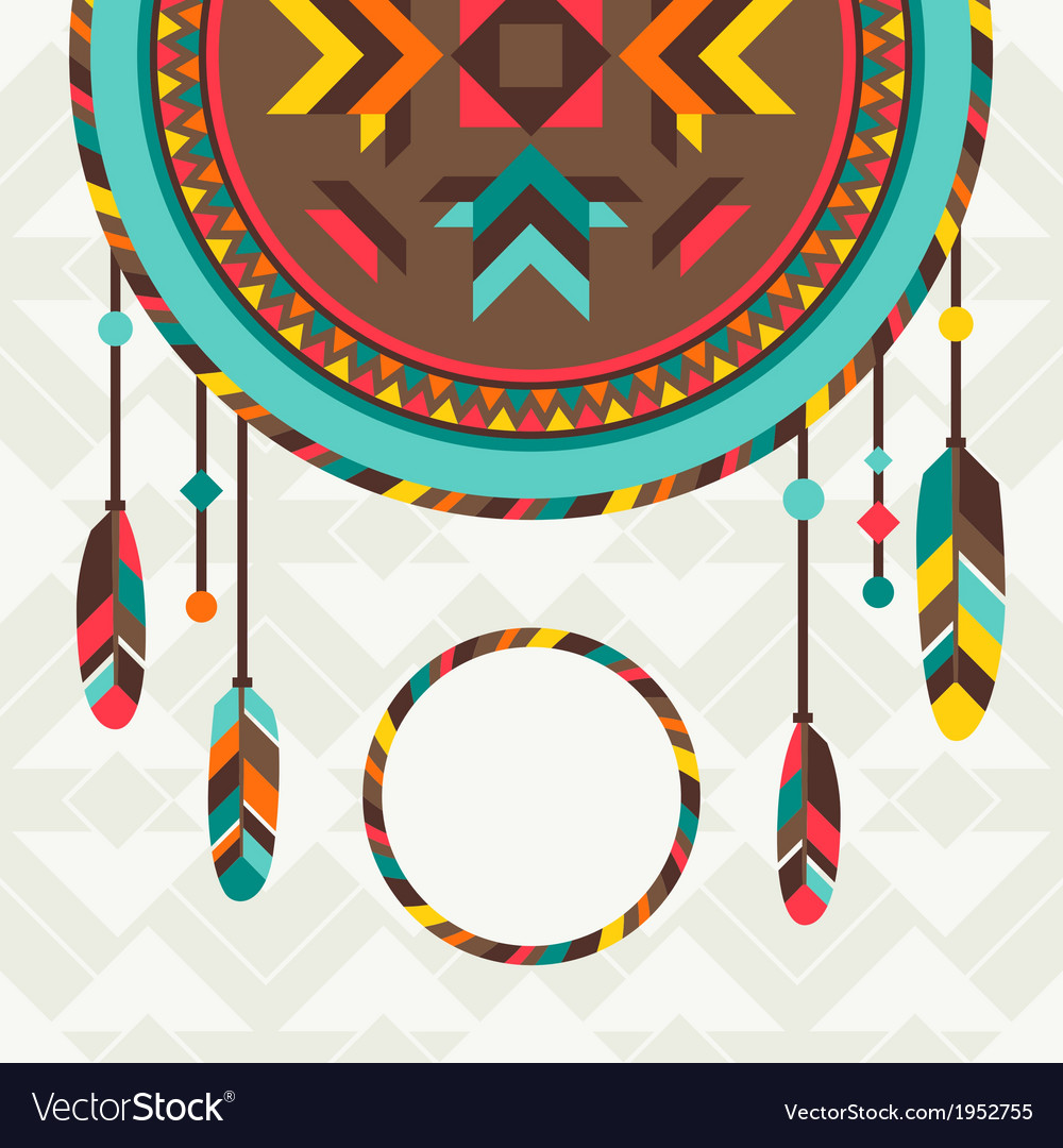 Ethnic background with dreamcatcher in navajo vector | Price: 1 Credit (USD $1)
