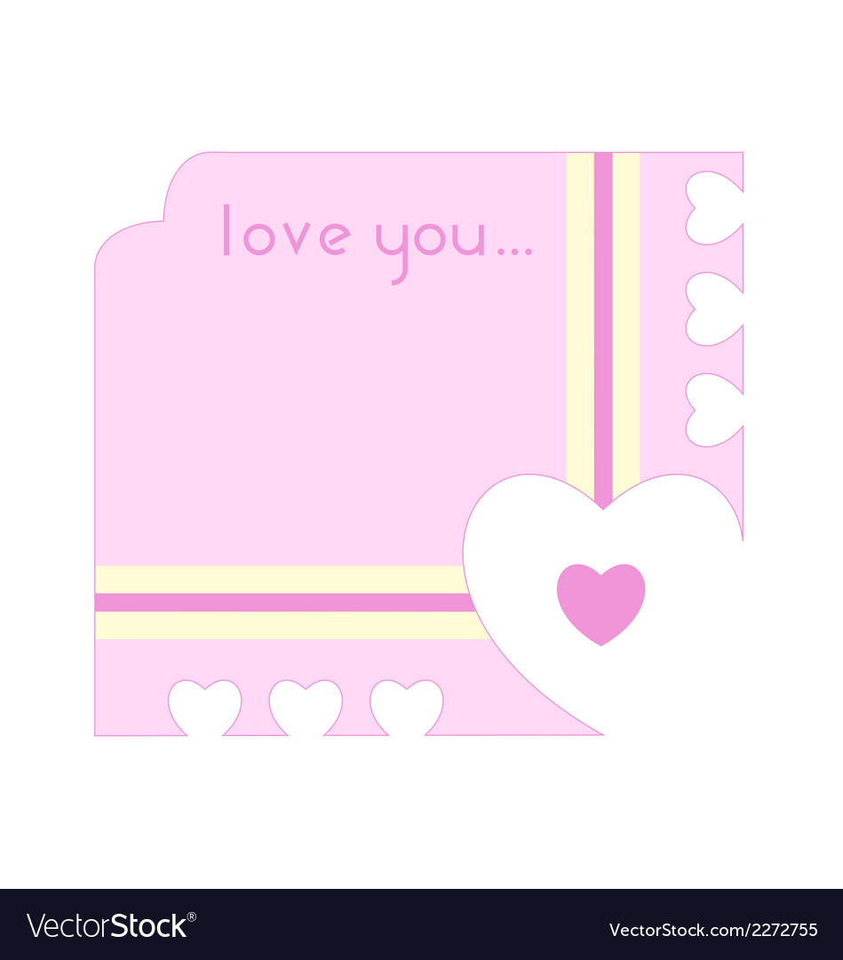 Greeting card with hearts cutting out along the vector | Price: 1 Credit (USD $1)