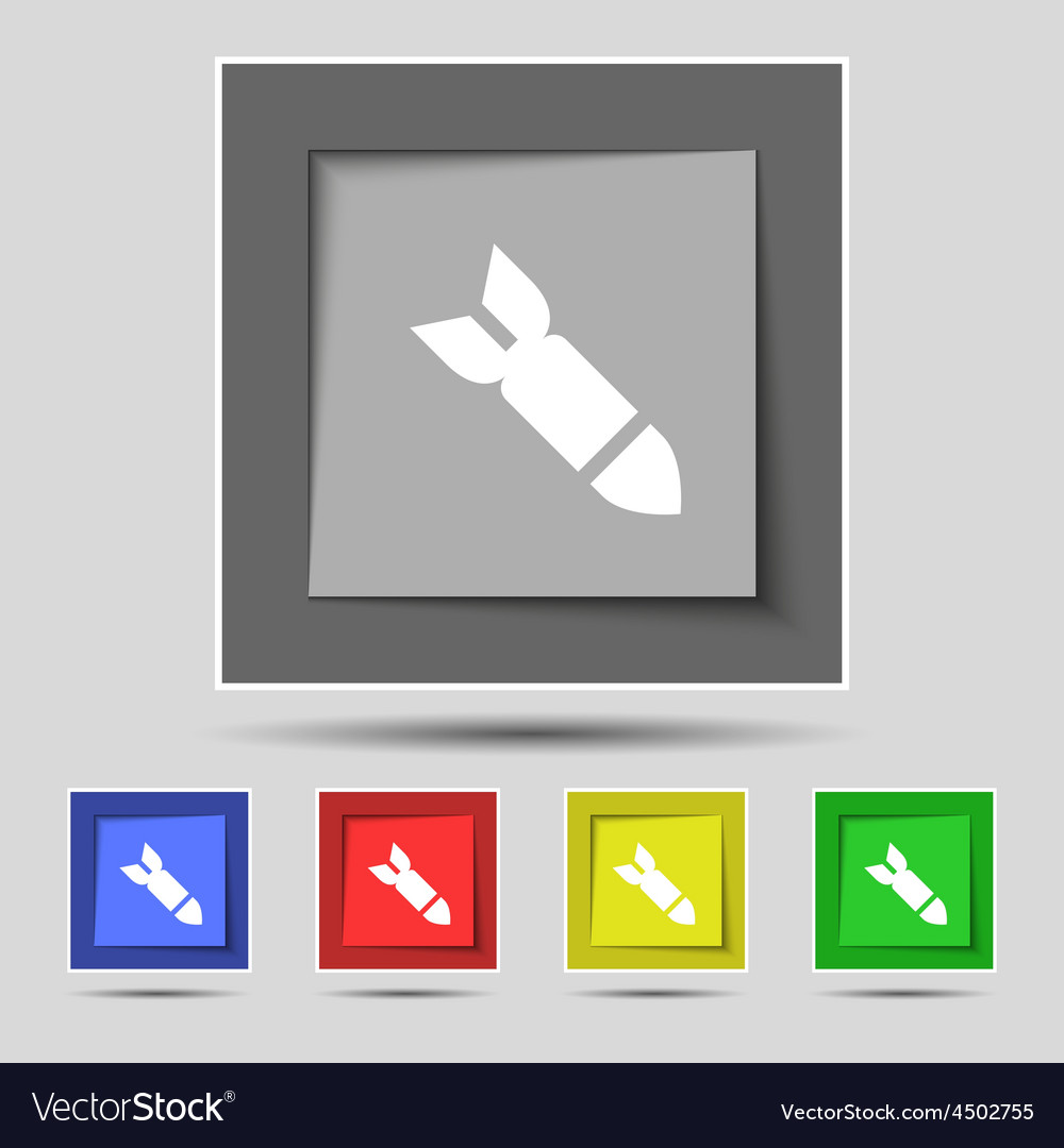 Missilerocket weapon icon sign on the original vector   Price: 1 Credit (USD $1)