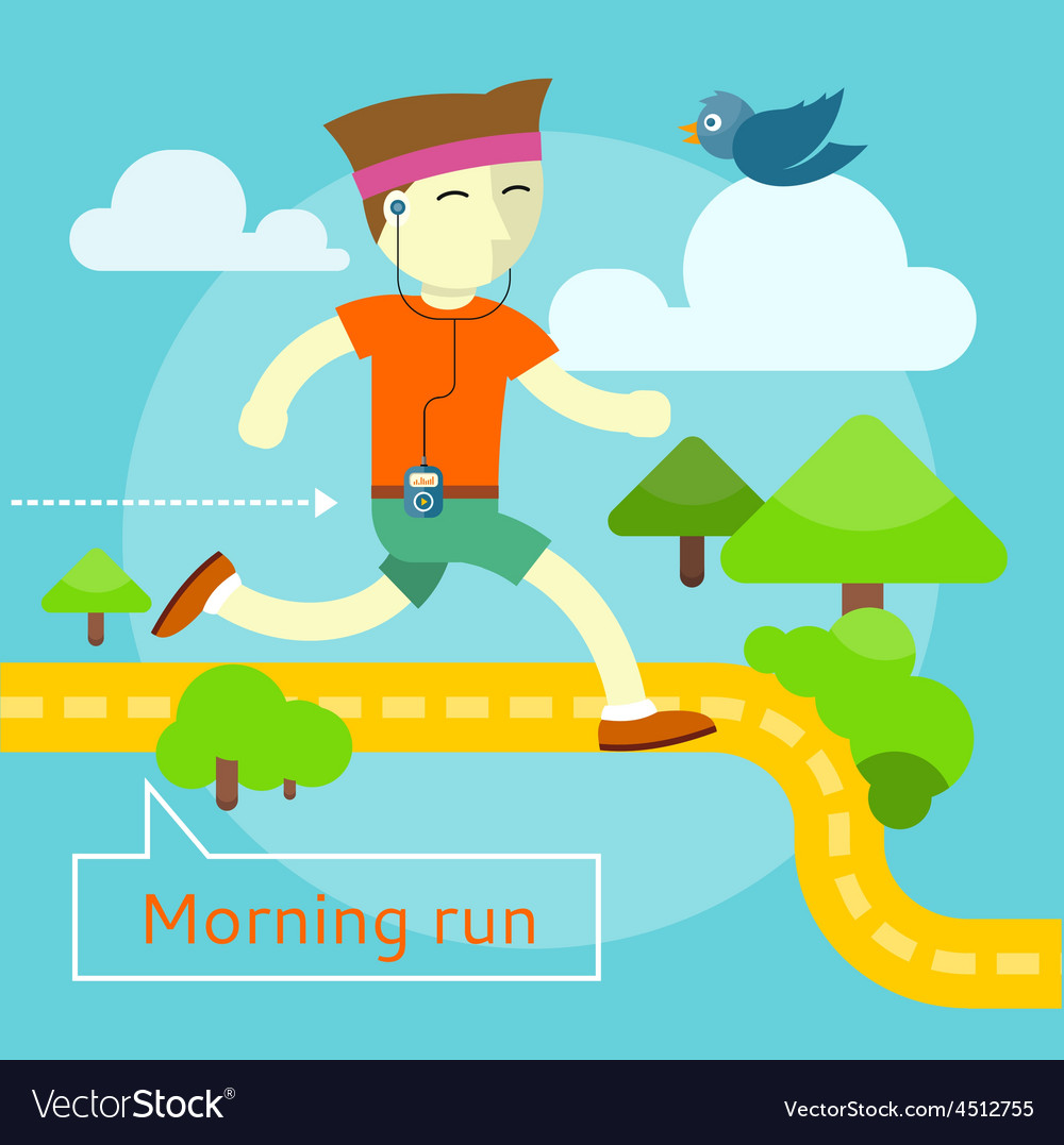 Morning run concept vector | Price: 1 Credit (USD $1)