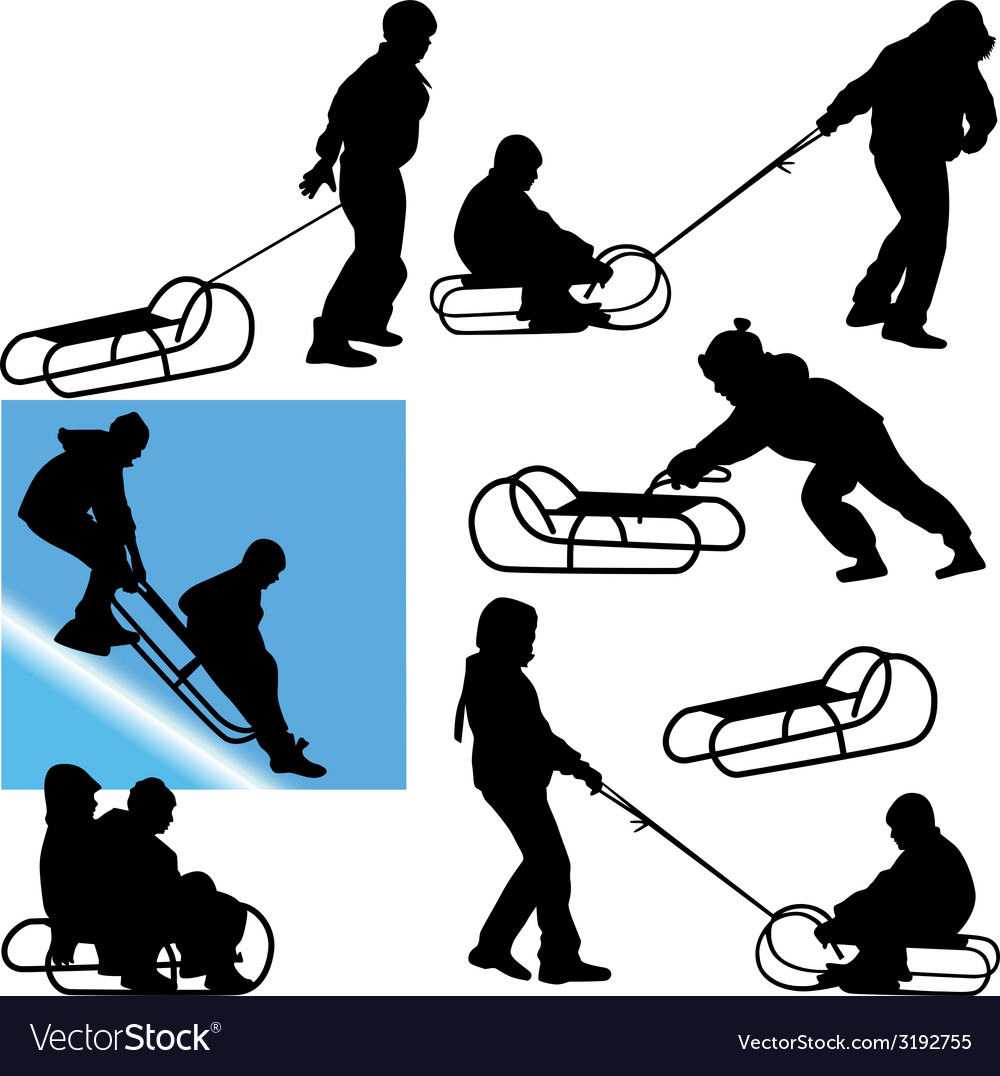 Sled vector | Price: 1 Credit (USD $1)