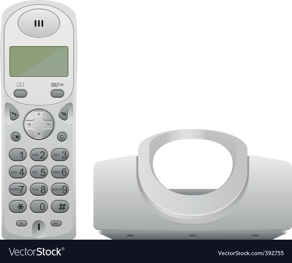 Wireless phone vector | Price: 3 Credit (USD $3)