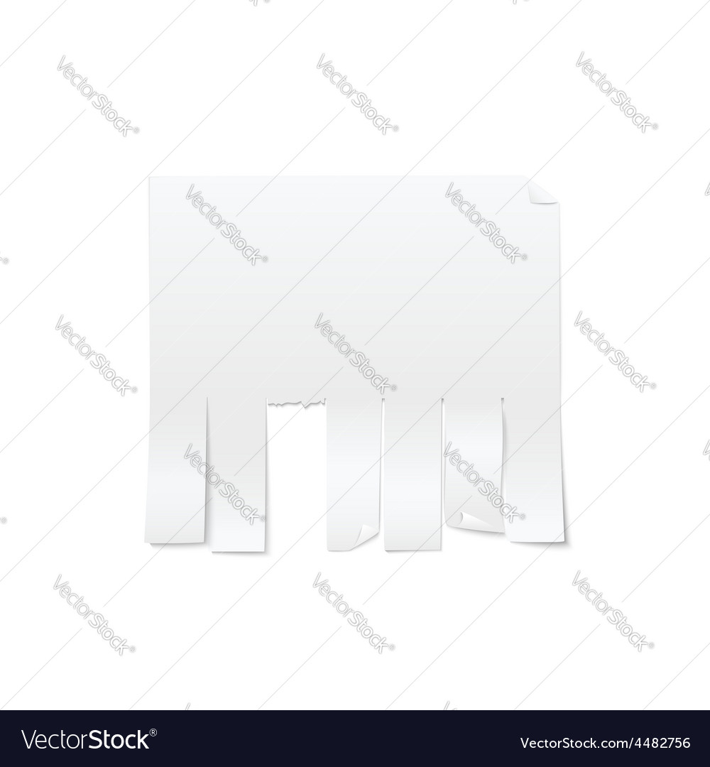 Blank sheet of paper advertising with cut slips vector | Price: 1 Credit (USD $1)