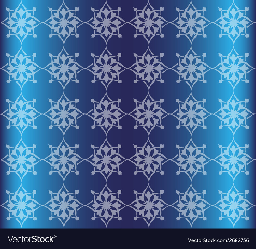 Blue floral luxury ornamental pattern background vector | Price: 1 Credit (USD $1)