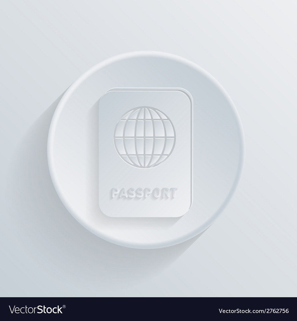 Circle icon with a shadow international passport vector | Price: 1 Credit (USD $1)