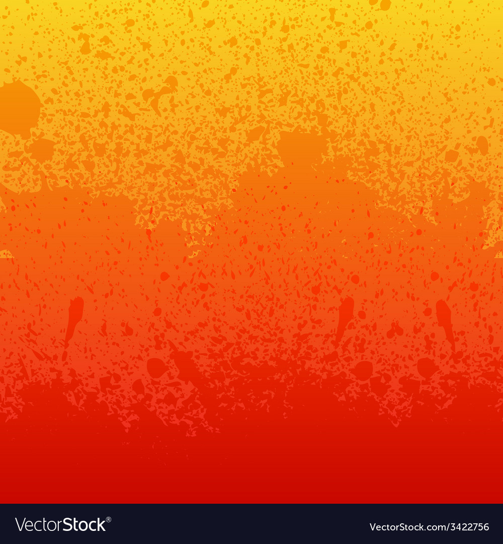 Colorful red orange and yellow paint splashes vector | Price: 1 Credit (USD $1)