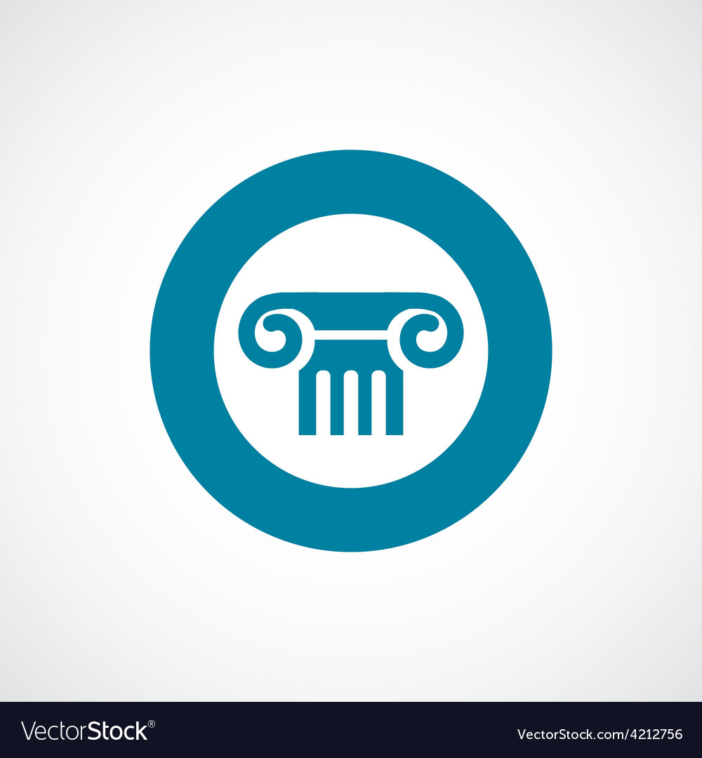 Column icon bold blue circle border vector | Price: 1 Credit (USD $1)