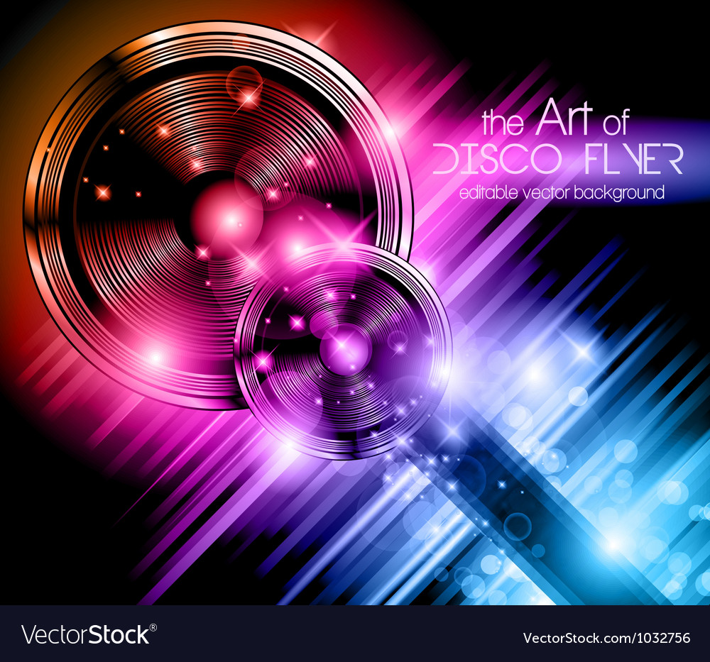Disco speakers background vector | Price: 1 Credit (USD $1)