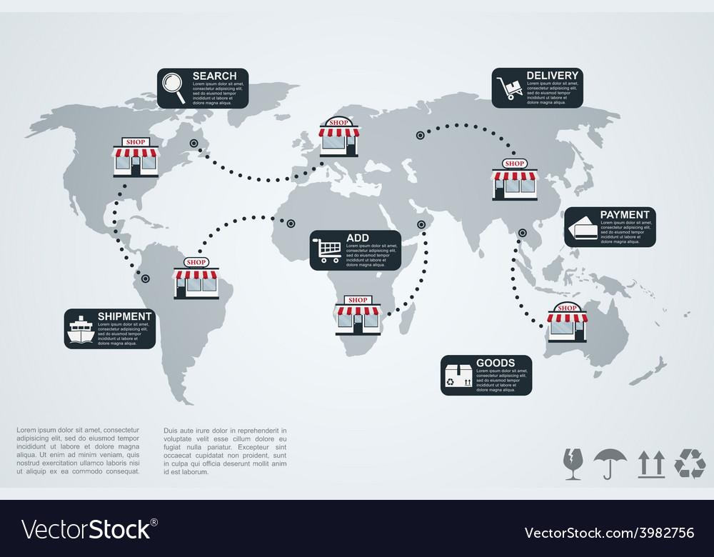 E commerce infographic vector   Price: 1 Credit (USD $1)