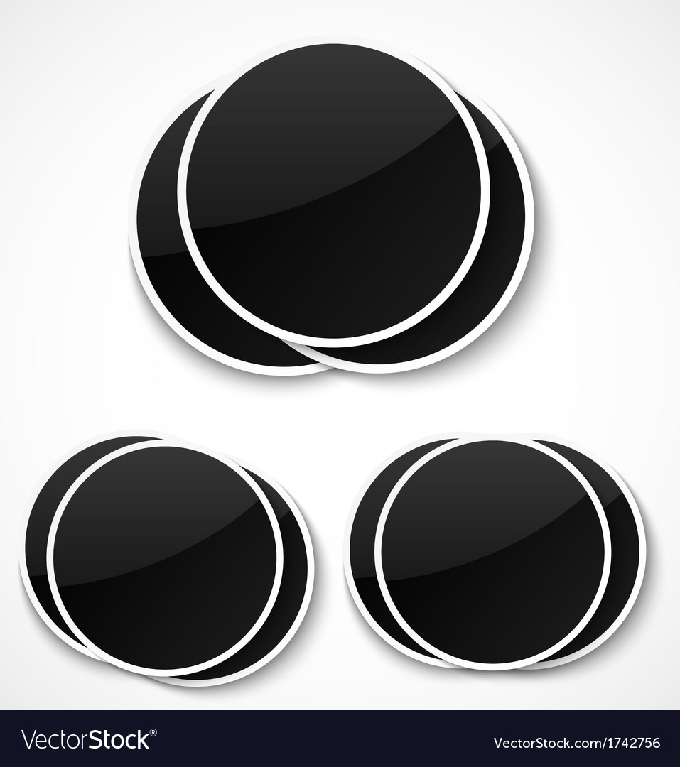 Empty round photo frames vector | Price: 1 Credit (USD $1)