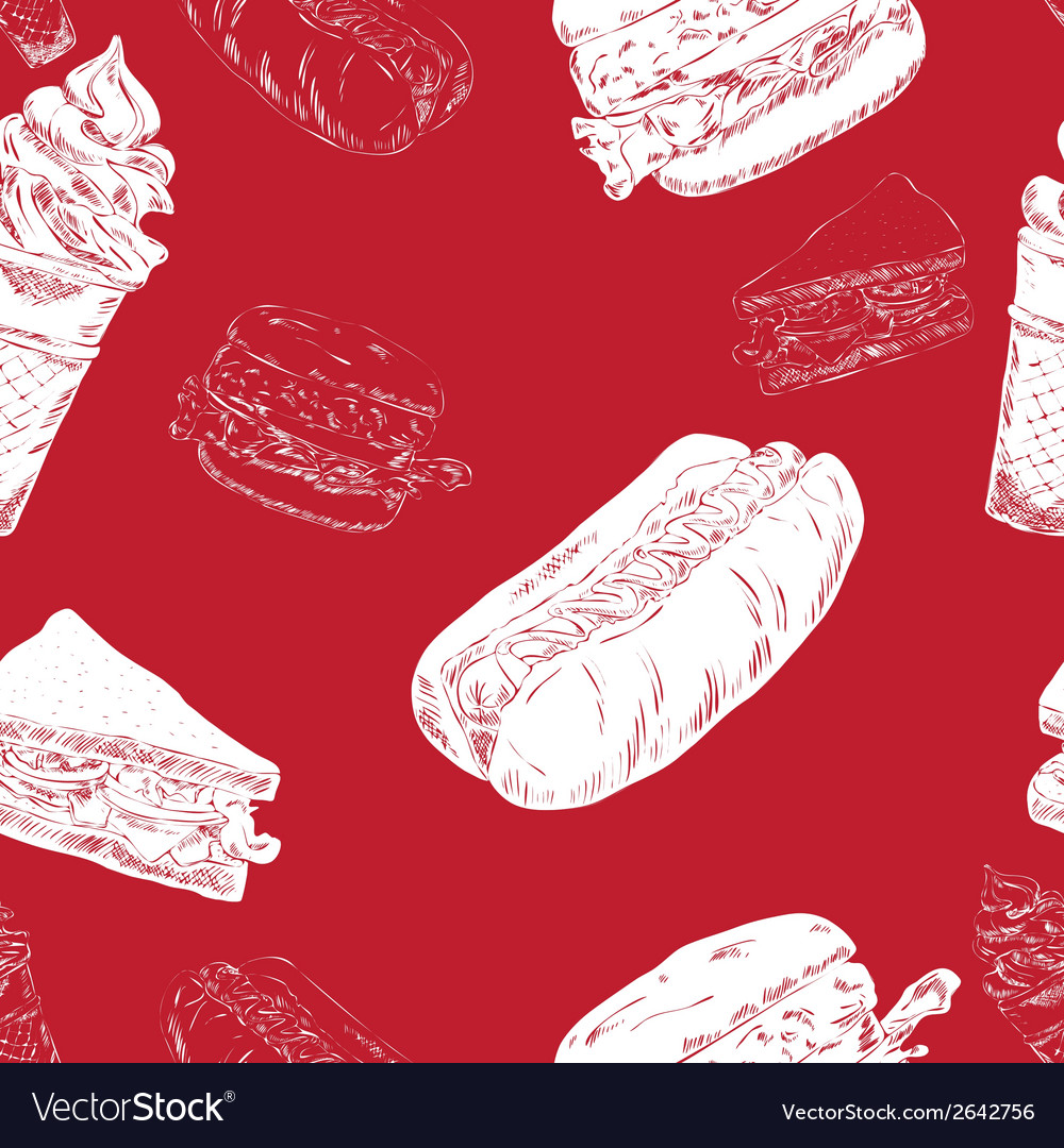Fast food seamless vector | Price: 1 Credit (USD $1)