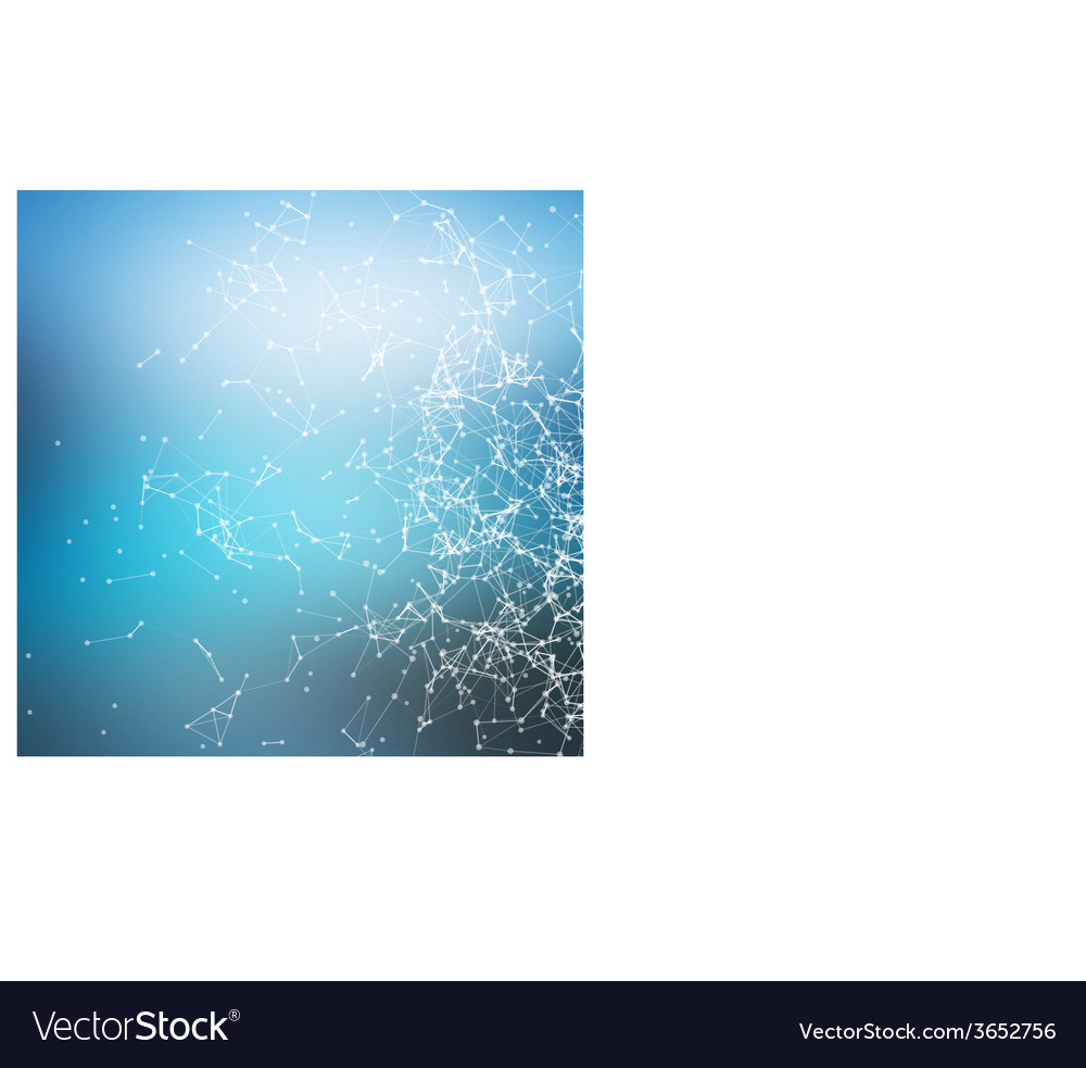 Geometric abstract background connecting dots with vector | Price: 1 Credit (USD $1)