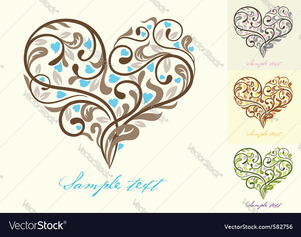 Greeting card with heart vector | Price: 1 Credit (USD $1)