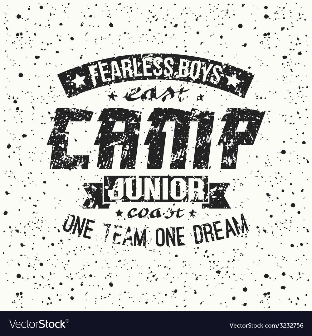 Junior sports training camp emblem vector   Price: 1 Credit (USD $1)