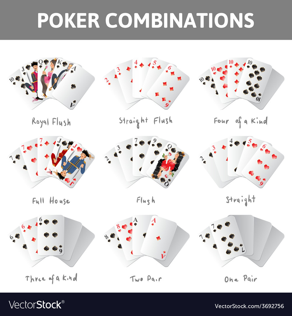 Poker combinations vector | Price: 1 Credit (USD $1)