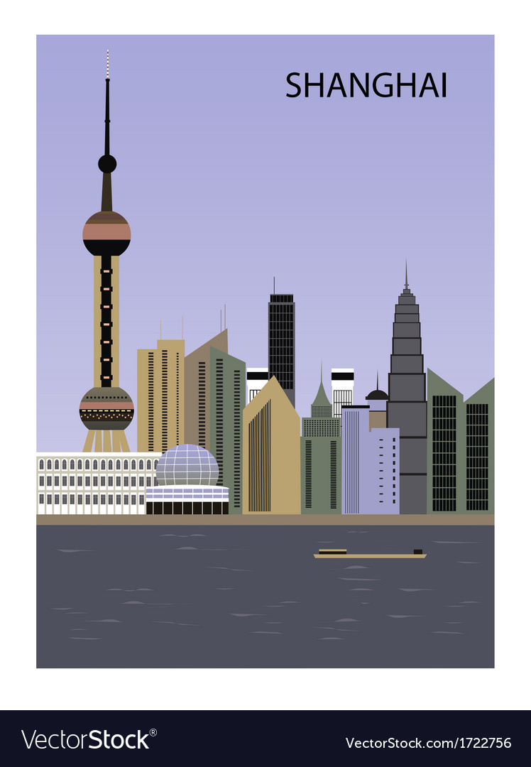 Shanghai china vector | Price: 1 Credit (USD $1)