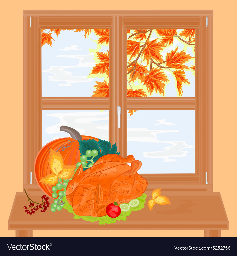 Window and celebratory food healthy food vector | Price: 1 Credit (USD $1)
