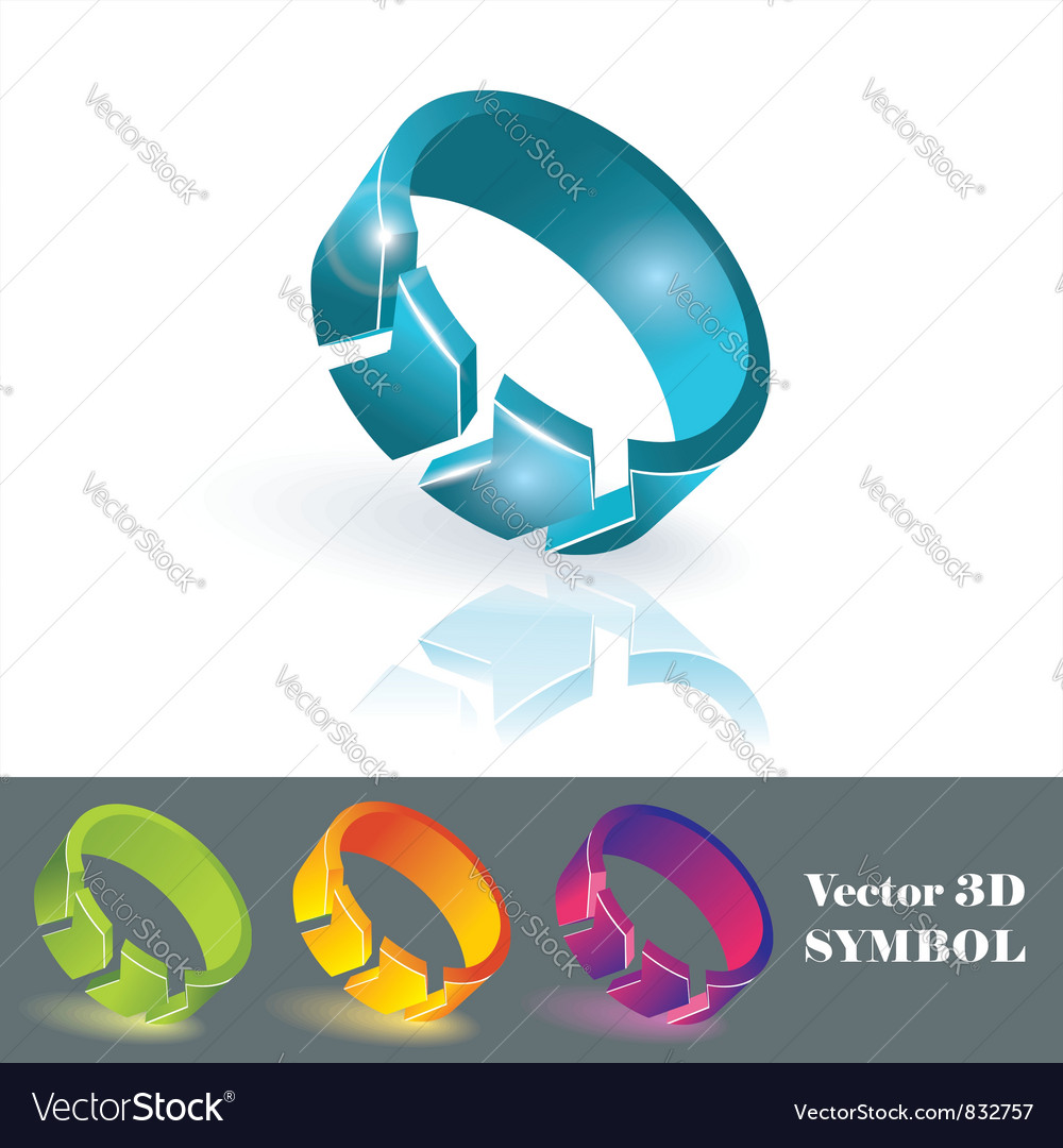 3d color symbols vector | Price: 1 Credit (USD $1)