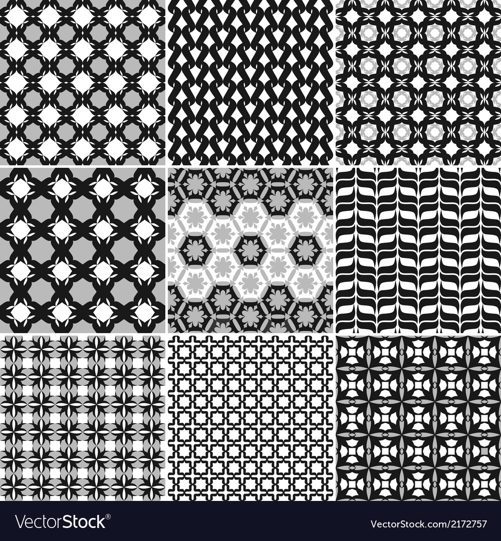 9 great patterns set 1 vector | Price: 1 Credit (USD $1)