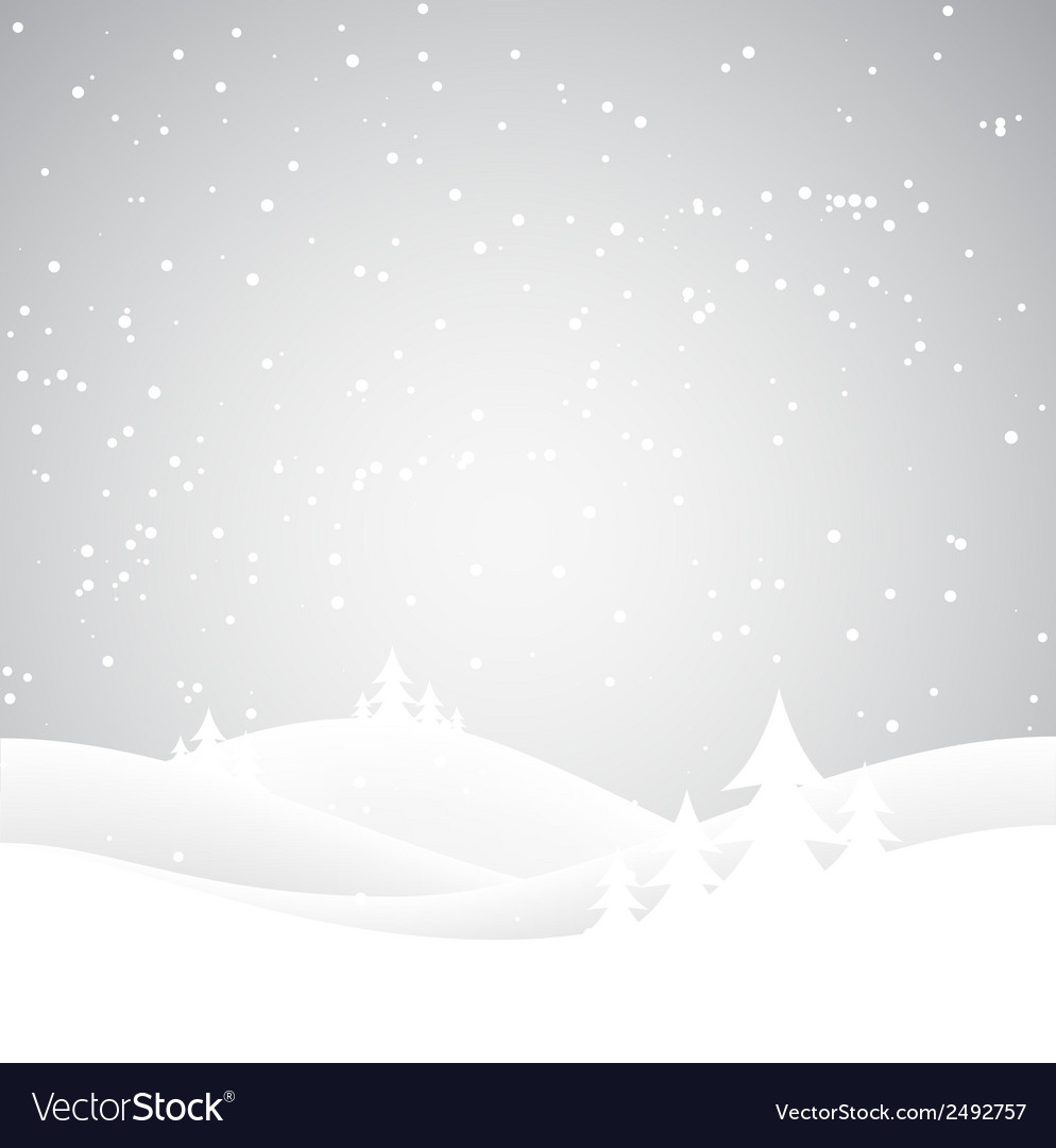 Christmas snow hills vector | Price: 1 Credit (USD $1)