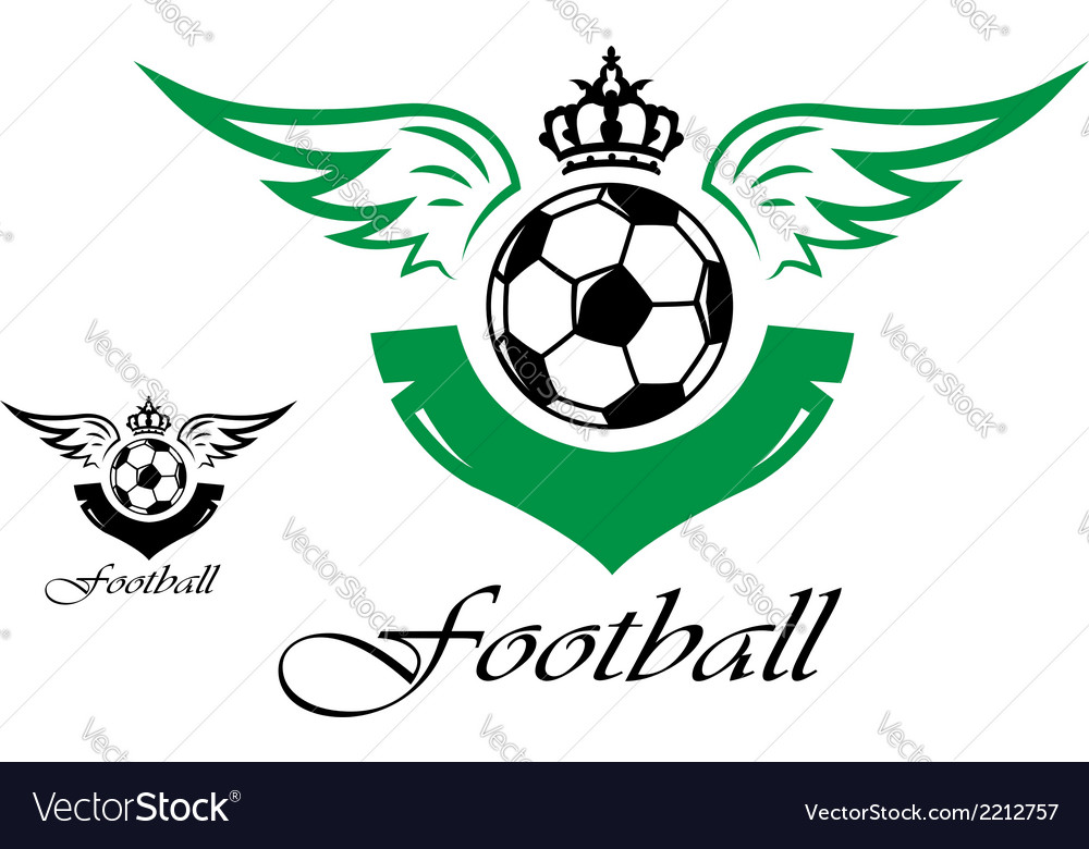 Football or soccer symbol vector | Price: 1 Credit (USD $1)