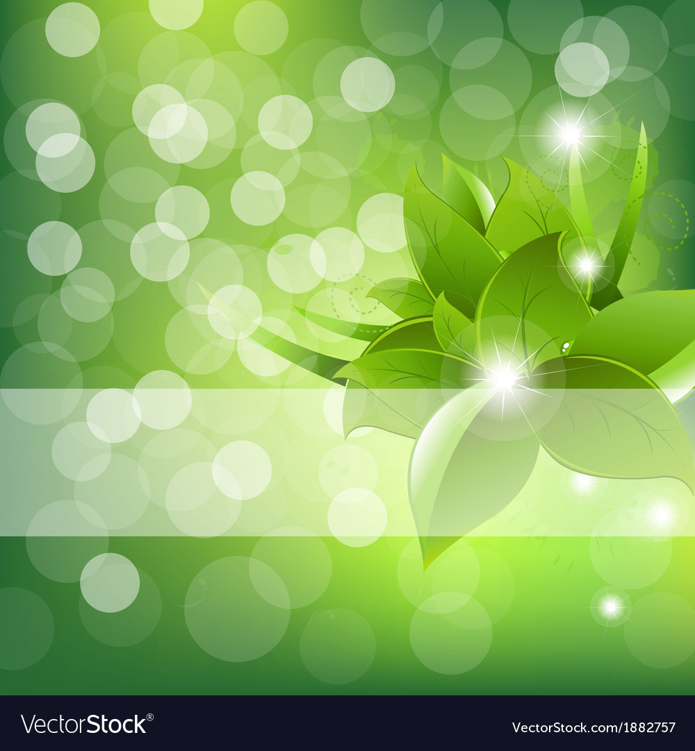 Green leaves design vector | Price: 1 Credit (USD $1)