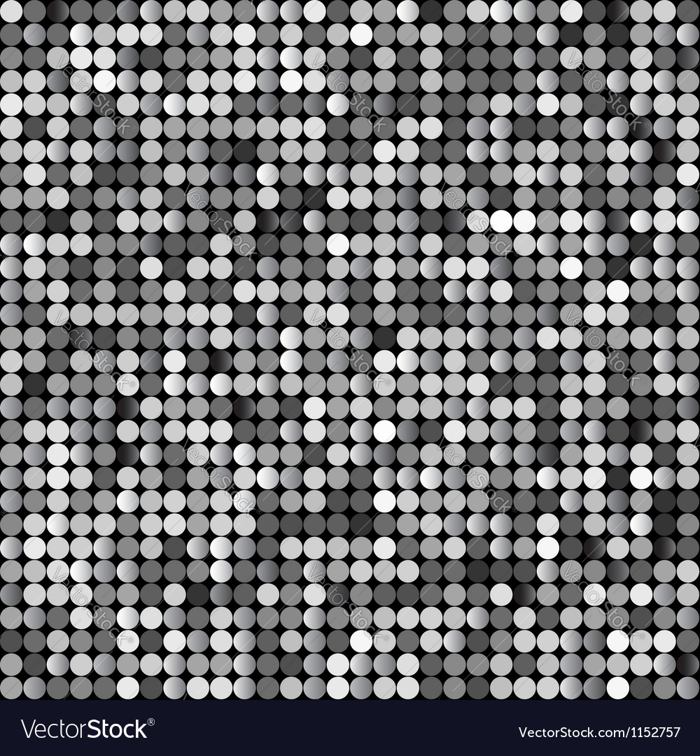 Seamless background with shiny silver paillettes vector