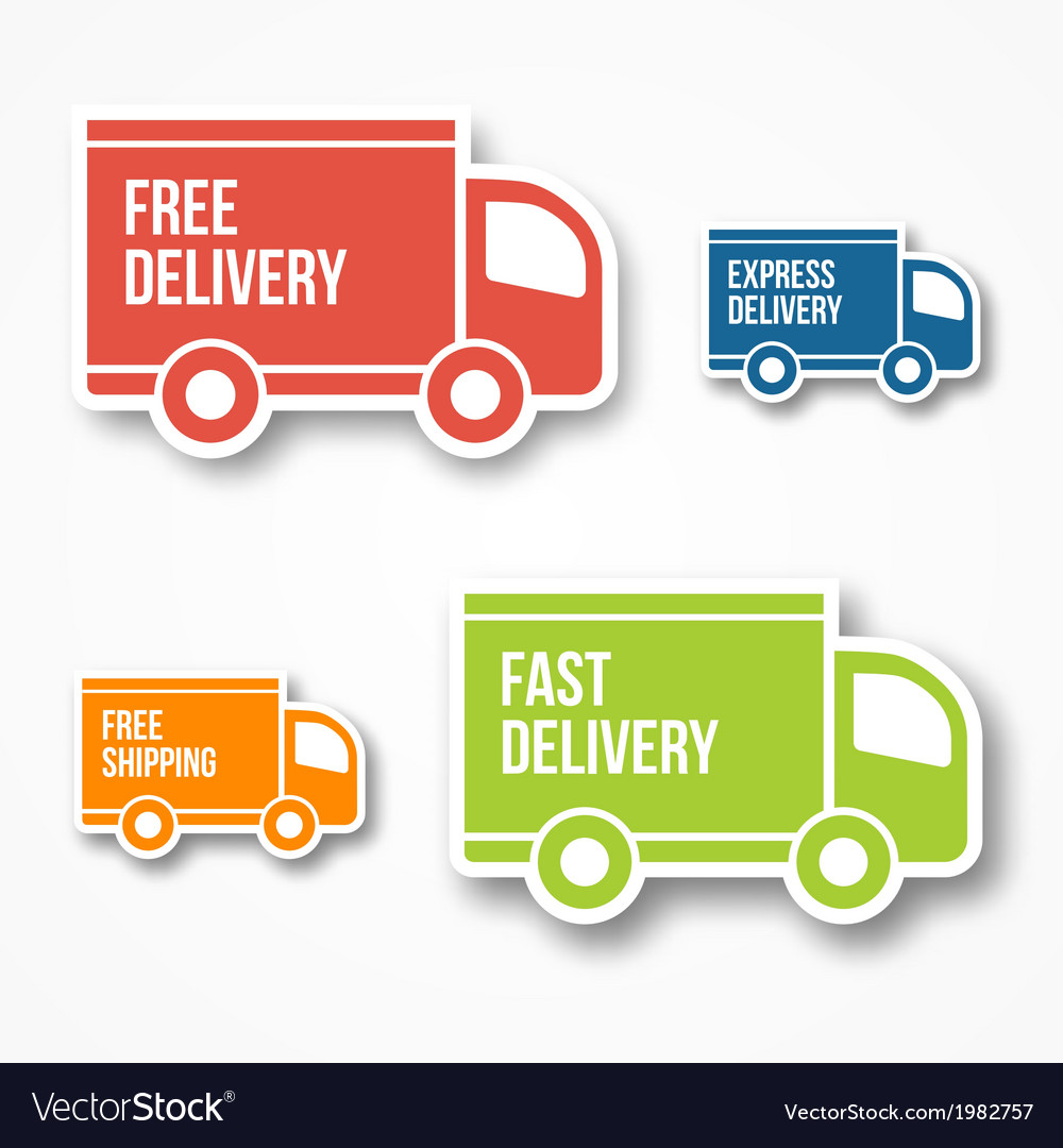 Shipment and free delivery vector | Price: 1 Credit (USD $1)