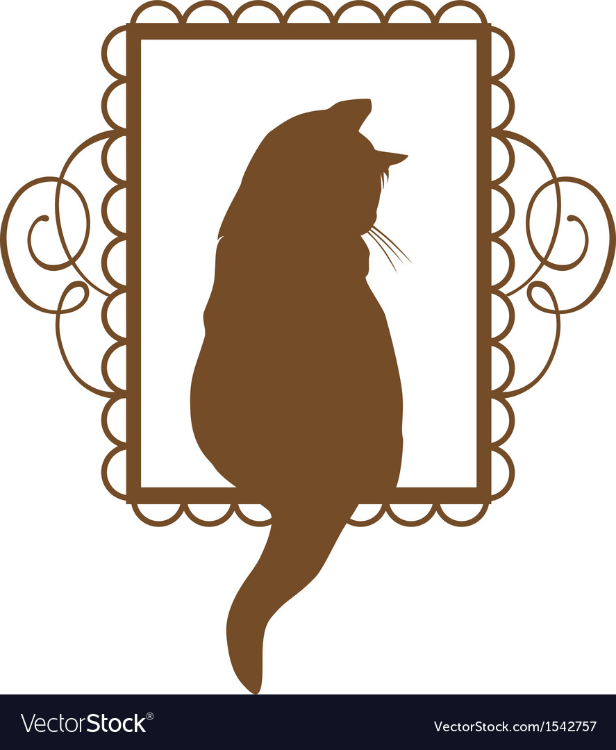 Vintage cat vector | Price: 1 Credit (USD $1)