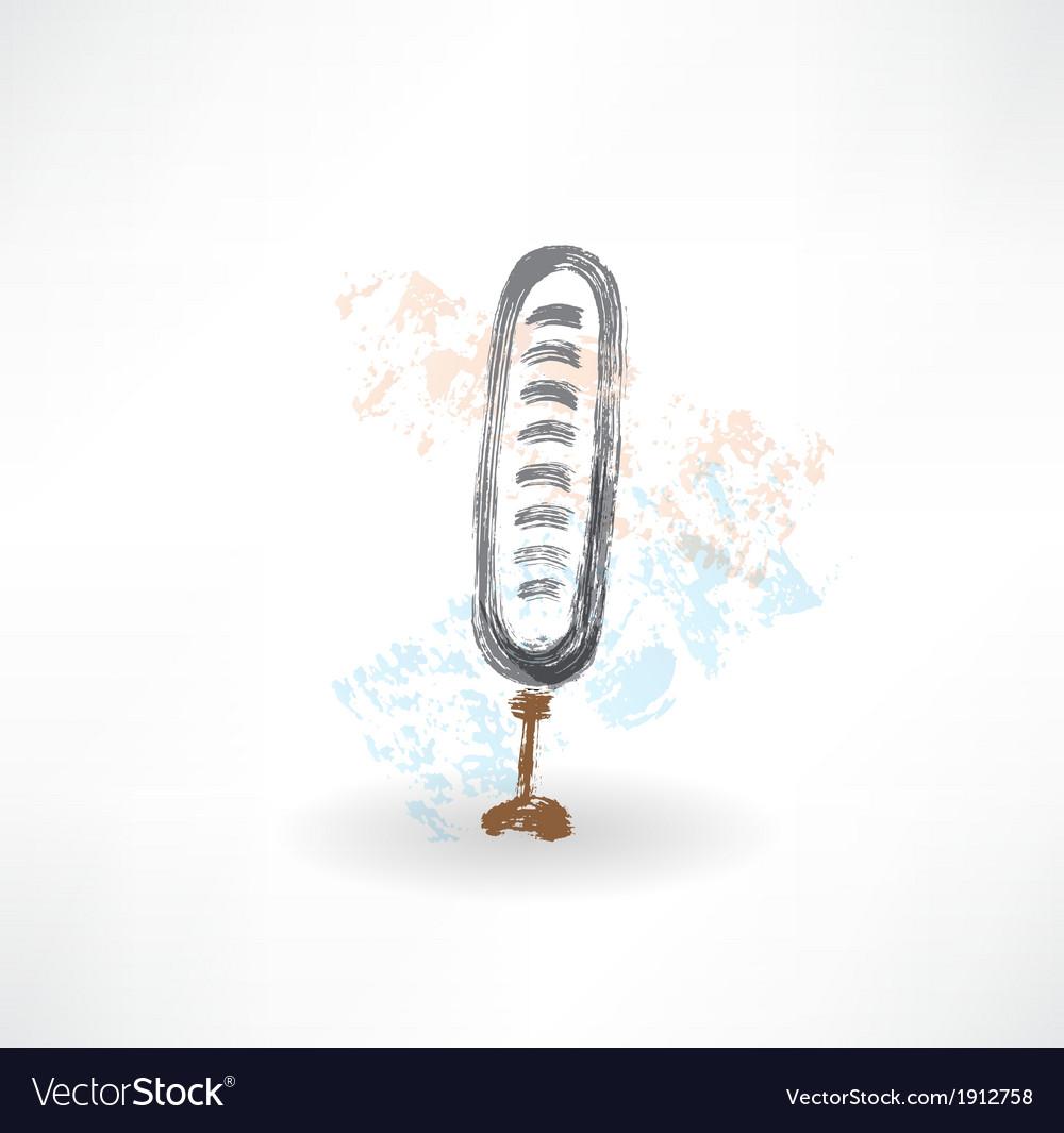 Brush microphone icon vector | Price: 1 Credit (USD $1)