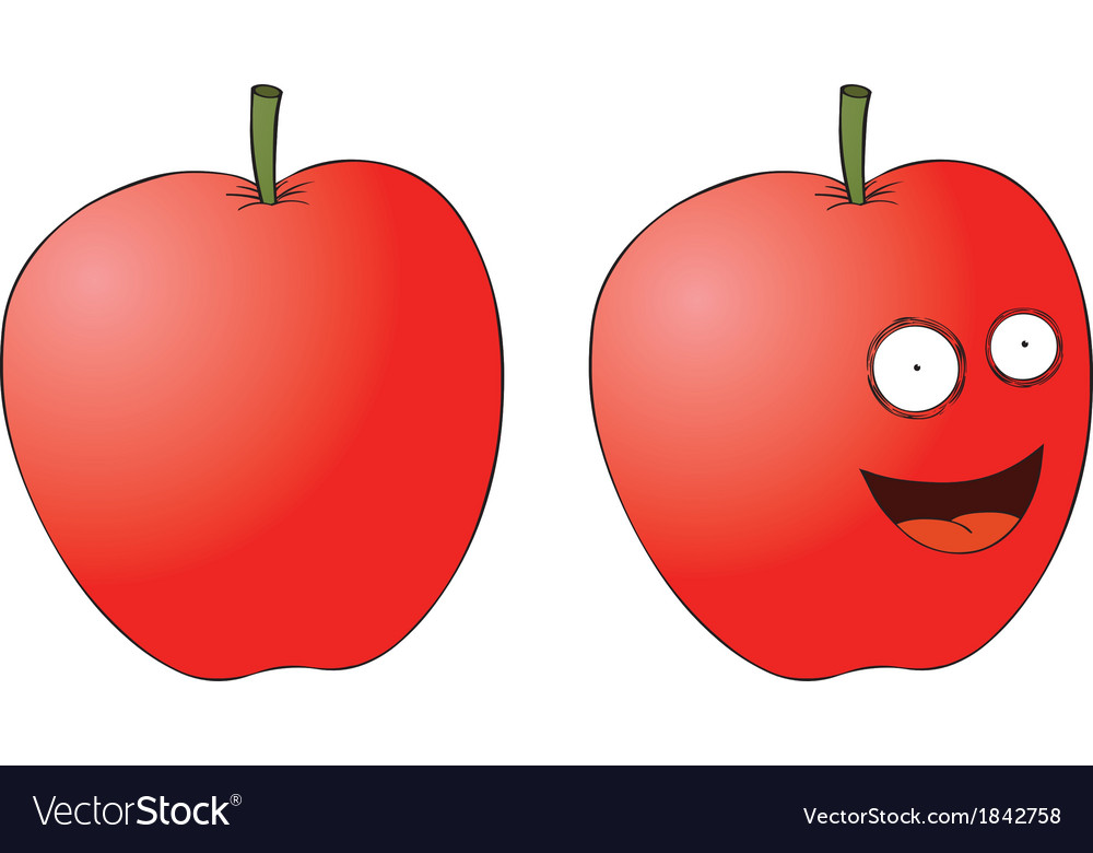 Cartoon apple vector | Price: 1 Credit (USD $1)