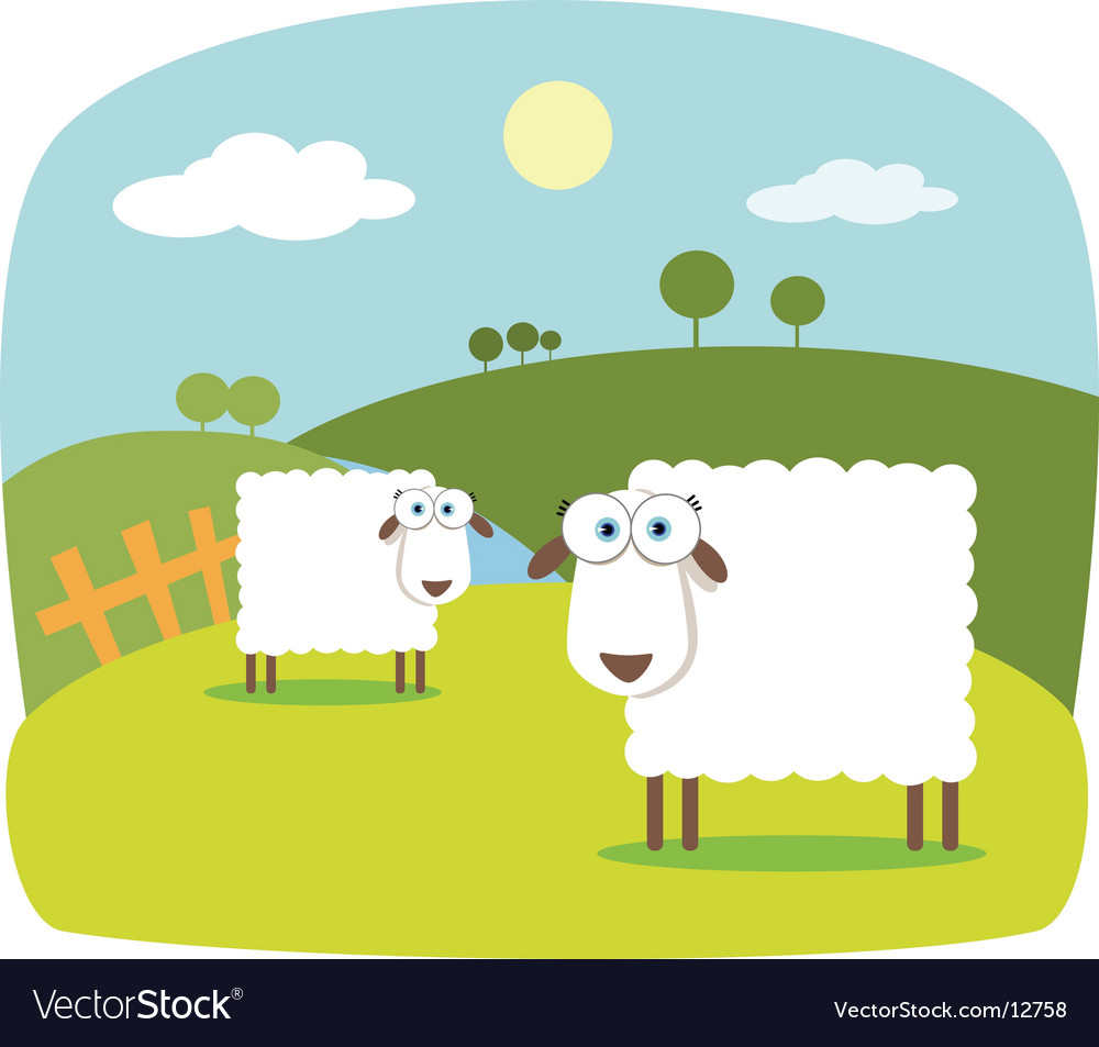 Cartoon sheep vector | Price: 3 Credit (USD $3)