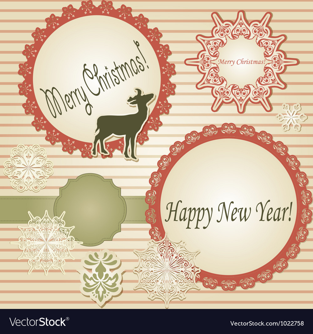 Christmas scrapbook design template vector | Price: 1 Credit (USD $1)