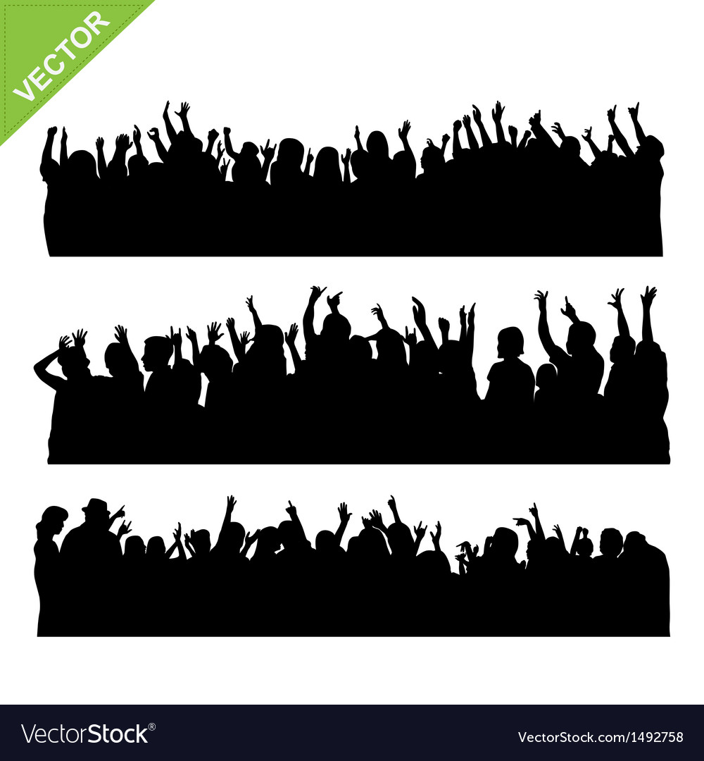 Crowd concert silhouettes vector | Price: 1 Credit (USD $1)