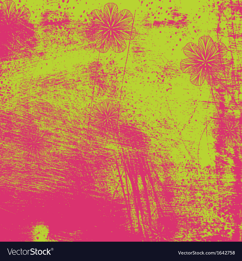 Distressed floral texture vector   Price: 1 Credit (USD $1)