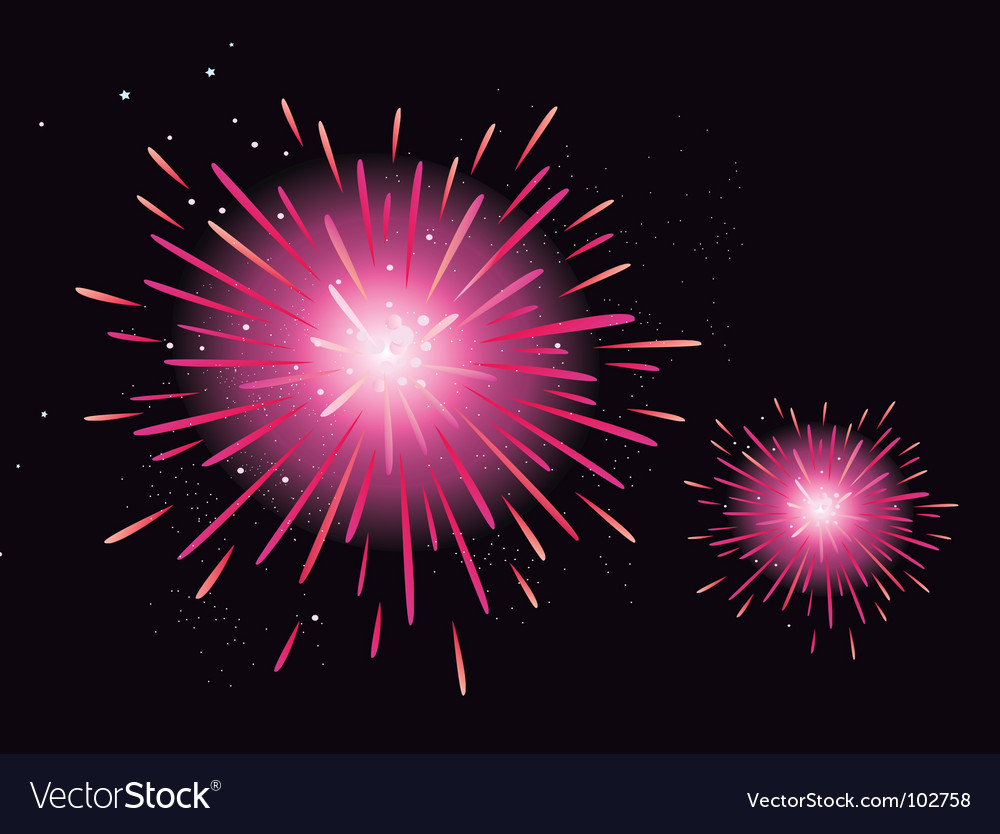 Fireworks display vector | Price: 1 Credit (USD $1)
